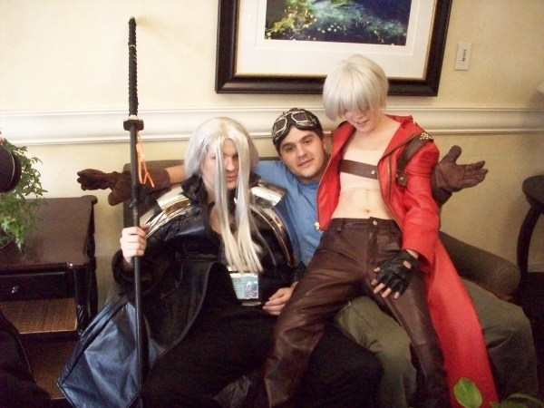 Sephiroth and Dante at Anime Fe
