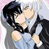 2 kagome and inuyasha kissing big thumb