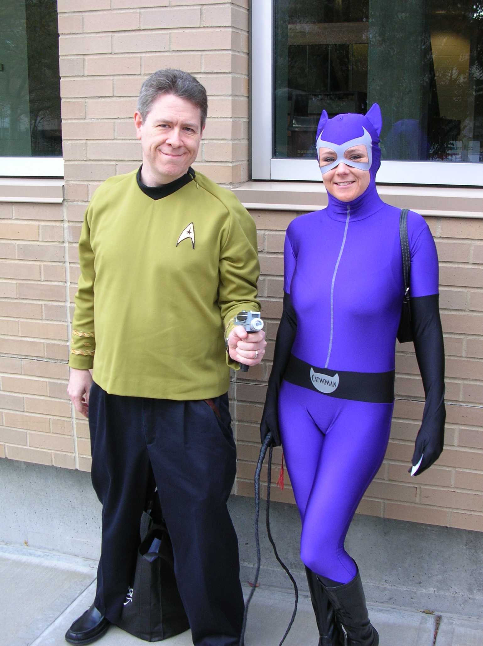Capt. Kirk and Catwoman