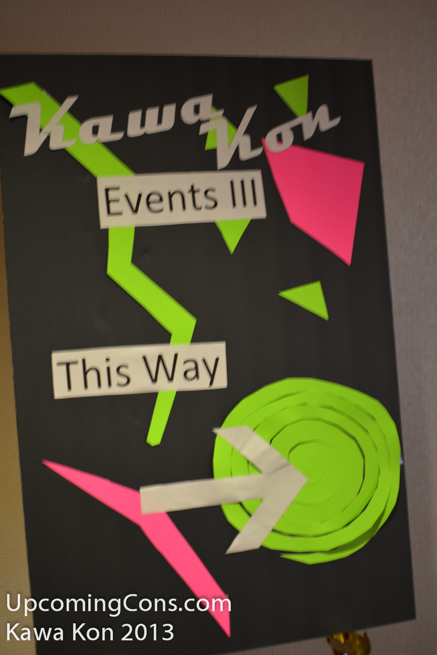 Kawa Kon Events Sign
