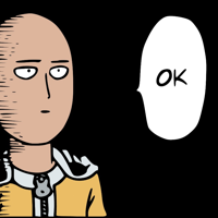 Okay he says one punch man big thumb